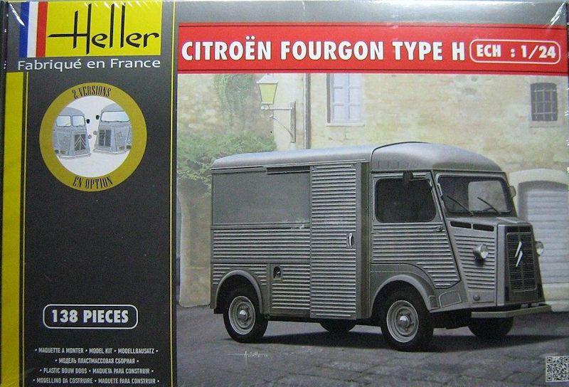 citro n fourgon type h heller 1 24. Black Bedroom Furniture Sets. Home Design Ideas